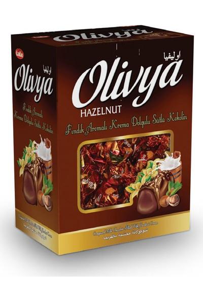 Lale Olivya Fındık Aromalı Krema Dolgulu Sütlü Kokolin Çikolata 1 kg