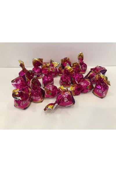 Lale Olivya Çilek Aromalı Krema Dolgulu Sütlü Kokolin Çikolata 500 gr