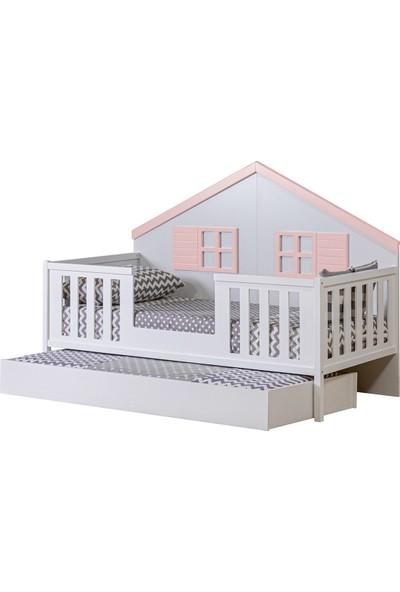 Setay Montessori Yatak, Fethiye Yavrulu Montessori Karyola Pembe + 2 Adet Comfort Yatak