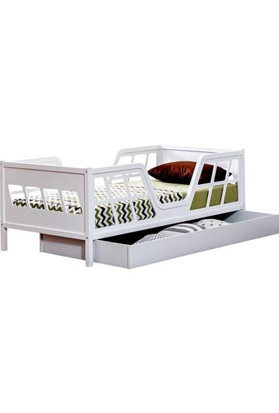 Setay Montessori Yatak, Viva Montessori Yavrulu Karyola, Beyaz + 2 Adet Comfort Yatak