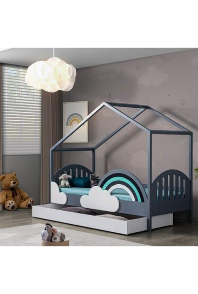 Setay Montessori Yatak, Bulut Montessori Yavrulu Karyola + 2 Adet Comfort Yatak
