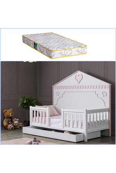 Setay Montessori Yatak, Rosa Montessori Yavrulu Karyola + 1 Adet Comfort Yatak