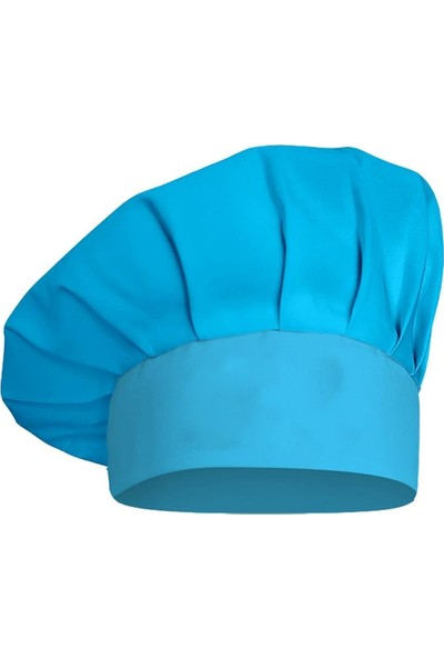 Dr.mia Aşçı Kep Şef Şapkası Mantar Kep Alpaka Kumaş Unisex Turkuaz