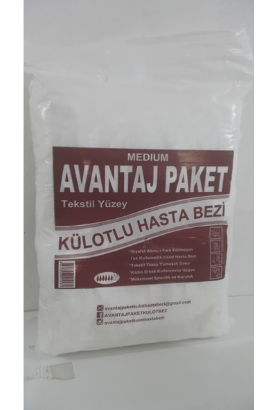 Eva Avantaj 30'lu Külot Hasta Bezi Small Medium Large Xlarge
