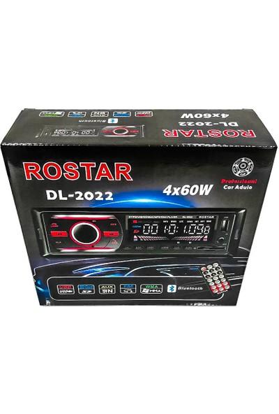 Rostar DL-2022 4X60 W Professional Usb\sd Kart\fm\bluetooth\aux\wma Tanımlayıcı Oto Teyp