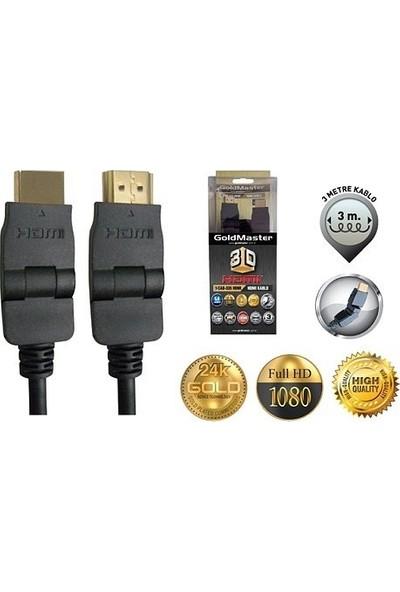 Goldmaster CAB-335 HDMI Kablosu 180 Derece - 3m