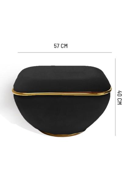 Zem Lulu Black - Gold Puf