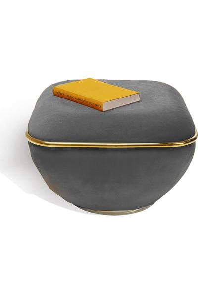 Zem Lulu Grey - Gold Puf