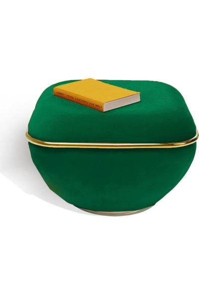 Zem Lulu Green - Gold Puf