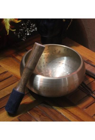 İlkay Consept Moda Pirinç Meditasyon Çanı Yoga Çanı Tibet Çanağı Singing Bowl 9 cm