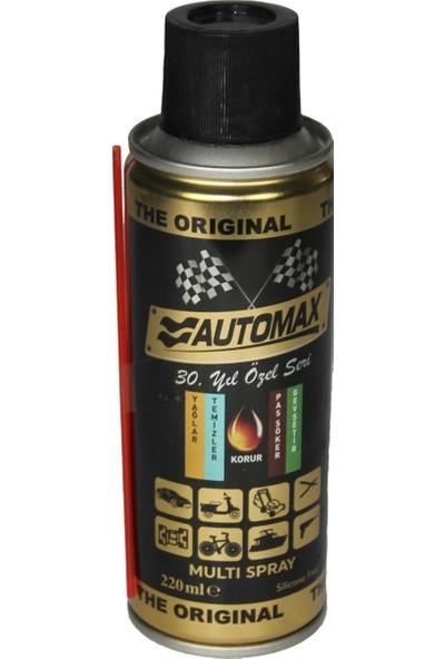 Auomax Çok Amaçlı Pas Sökücü Yağlayıcı Bakım Spreyi 220 ml