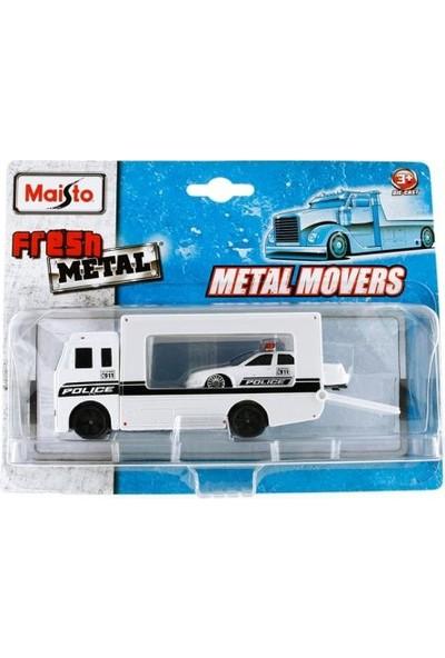 Maisto Fresh Metal Araç ve Taşıyıcı Tır-Beyaz