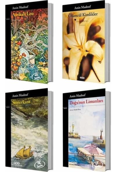 Amin Maalouf 4 Kitap Set (Semerkant, Afrikalı Leo, Ölümcül Kimlikler, Doğunun Limanları)