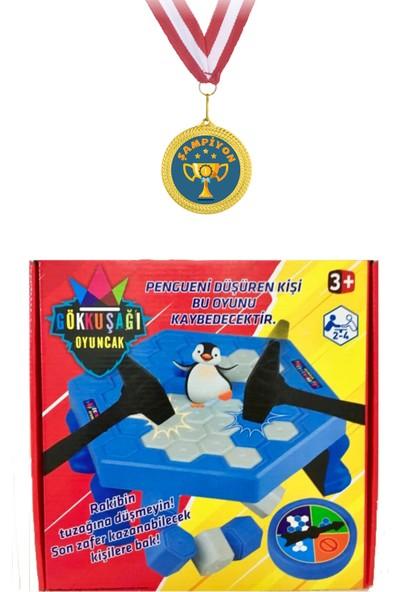 Şampiyon Madalyalı Gökkuşağı Buz Tuzağı Oyunu Penguen Düşürmeli Buz Kırma Zeka ve Strateji Oyunu