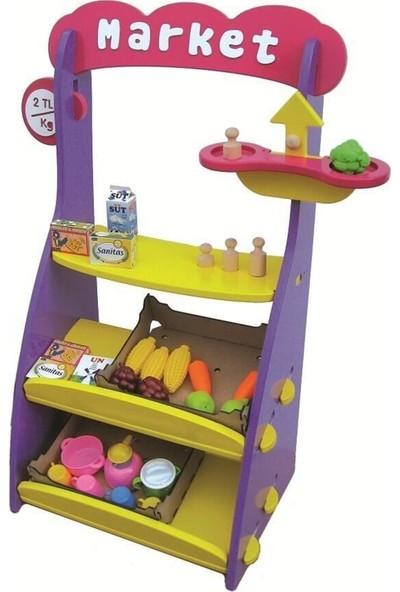 Edu Toys Ahşap Manav Market Seti