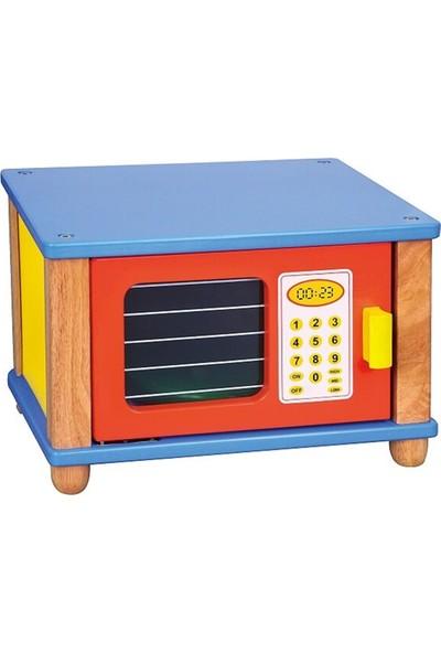 Edu Toys Ahşap Mikrodalga Fırın Renkli