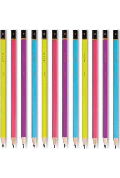 Adel Kurşun Kalem Matte Canlı Renkler 12'li Set