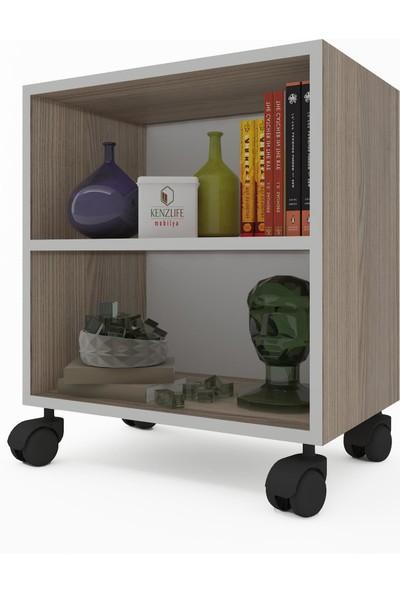 Kenz Life Kitaplık Beril 068 x 030 x 020 Crd Tekerlekli Mutfak Dolabı Banyo Ofis Ayakkabılık Kiler