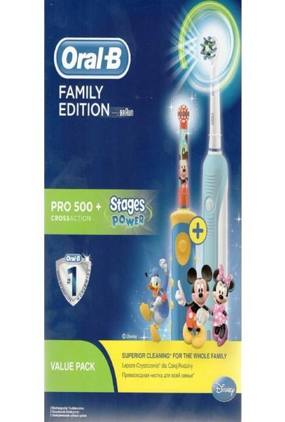 Oral-B Şarjlı Pro 500 + D10 Mickey Müzikli Çocuk Diş Fırçası