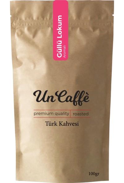 Un Caffe Güllü Lokum Aromalı Türk Kahvesi 100 gr
