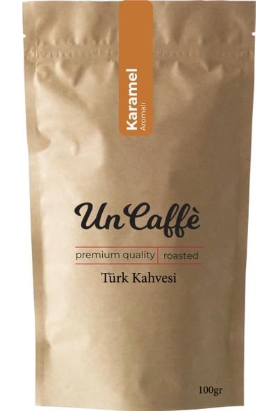 Un Caffe Karamel Aromalı Türk Kahvesi 100 gr