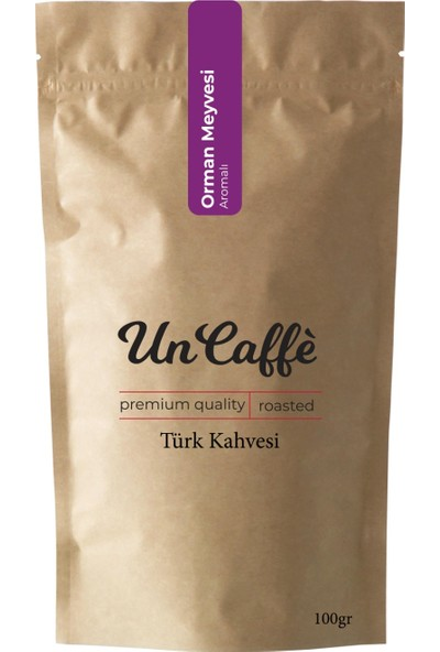 Un Caffe Orman Meyveli Aromalı Türk Kahvesi 100 gr