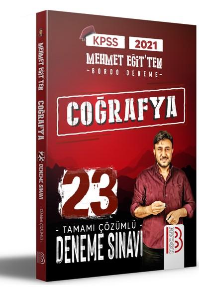Benim Hocam Yayınları 2021 KPSS Coğrafya Tamamı Çözümlü 23 Bordo Deneme Sınavı - Mehmet Eğit