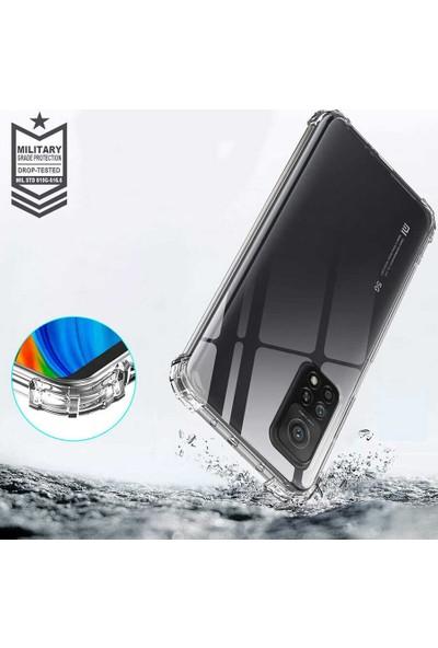Fibaks Xiaomi Mi 10T Pro 5G Kılıf Darbe Emici Köşe Korumalı Anti Shock Şeffaf Silikon Şeffaf
