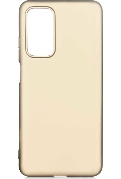 Fibaks Xiaomi Mi 10T Pro 5G Kılıf Renkli Mat Yumuşak Dokulu İnce A+ Silikon Premier Gold