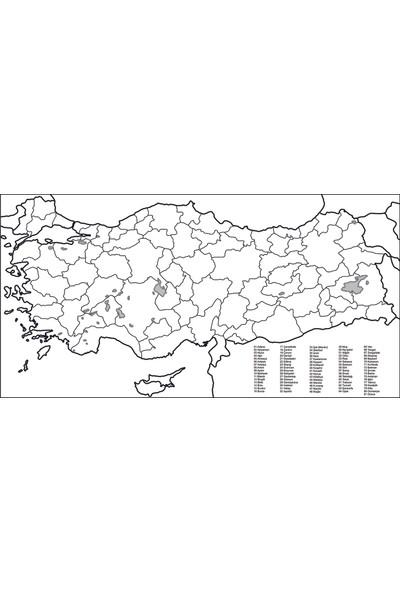 Sihirli Tahta Akıllı Kağıt Türkiye Haritası 110 x 56 cm + Silgili Kalem