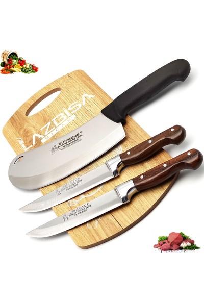 Lazbisa Sürmene Mutfak Bıçak Seti Soğan Pizza Börek Pide Bıçağı Satır Zırh Et Ekmek Sebze Bıçağı