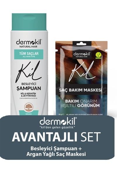 Dermokil Zeytinyağlı Şampuan ve Argan Saç Maskesi 2'li Set