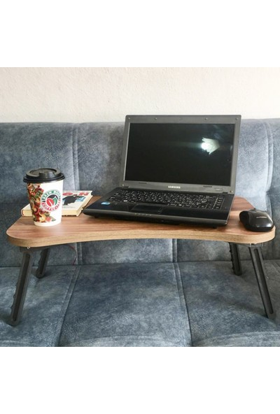 Shinelight Laptop Tablet Bilgisayar Sehpası Katlanır Ayaklı Çalışma Kahvaltı Masası