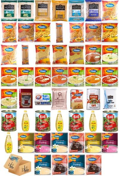Blueden Ramazan Paketi Kumanya Ezrak Gıda Yardım Kolisi 53 Parça 39 nolu Paket