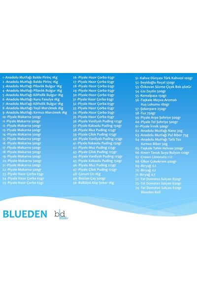 Blueden Ramazan Paketi Kumanya Ezrak Gıda Yardım Kolisi 74 Parça 61 nolu Paket