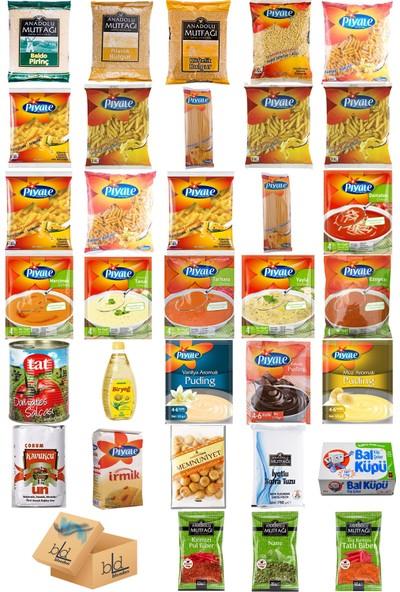 Blueden Ramazan Paketi Kumanya Ezrak Gıda Yardım Kolisi 33 Parça 24 nolu Paket
