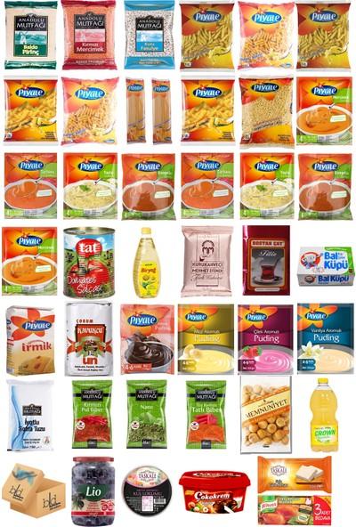 Blueden Ramazan Paketi Kumanya Ezrak Gıda Yardım Kolisi 42 Parça 26 nolu Paket