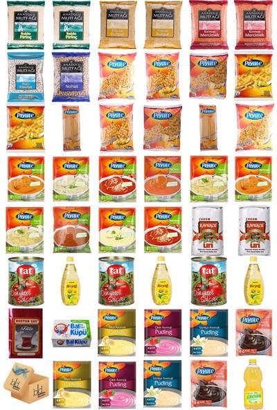 Blueden Ramazan Paketi Kumanya Ezrak Gıda Yardım Kolisi 47 Parça 40 nolu Paket