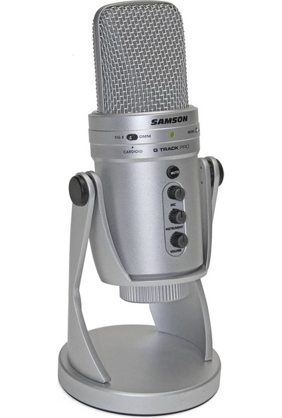 Samson G-Track Pro Silver Profesyonel USB Kondenser Mikrofon
