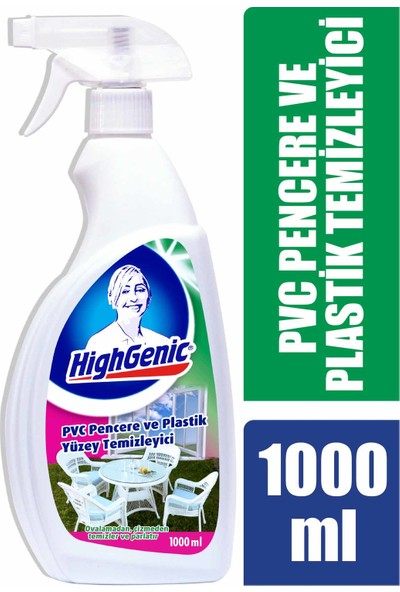 Highgenic Pvc Pencere Ve Plastik Yüzey Temizleyici 1000 ml
