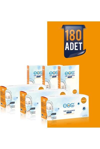 Eos Medical Tip Iır Meltblown Filtreli 3 Katlı Tıbbi Yüz Maskesi 180 Adet