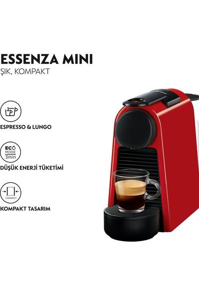 Nespresso Essenza Mini D 35 Red Bundle Kahve Makinesi