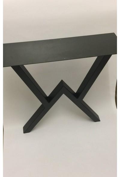 Abronya Masa Ayağı Yemek Çalışma Ofis Metal Masa Ayağı 1 Çift 2 Ayak