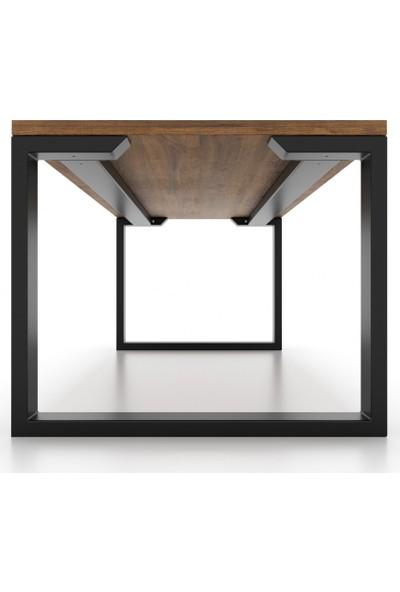Abronya Masa Ayağı Yemek Çalışma Salon Ofis Ahşap Kütük Mutfak Metal Masa Ayağı 1 Takım 130 cm