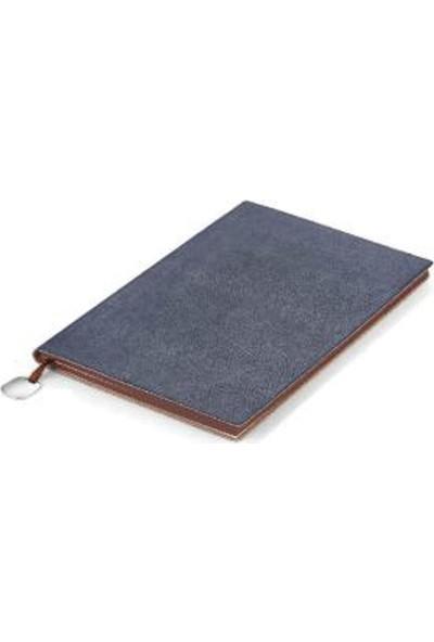 Trend Hediyelik Yumuşak Deri Kapaklı Defter Saks Mavi 13 x 21 cm