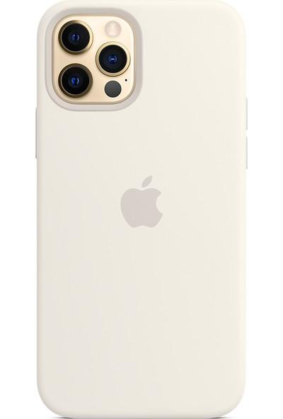 Rosstech Apple iPhone 12 Pro Max için Lansman Silikon Kılıf Beyaz