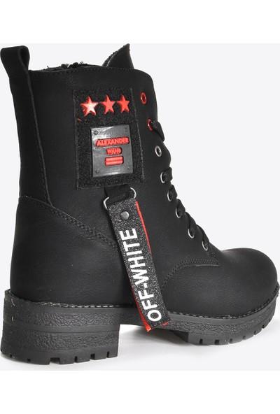 Vizon Ayakkabı Kadın Siyah Bot VZN20-082K