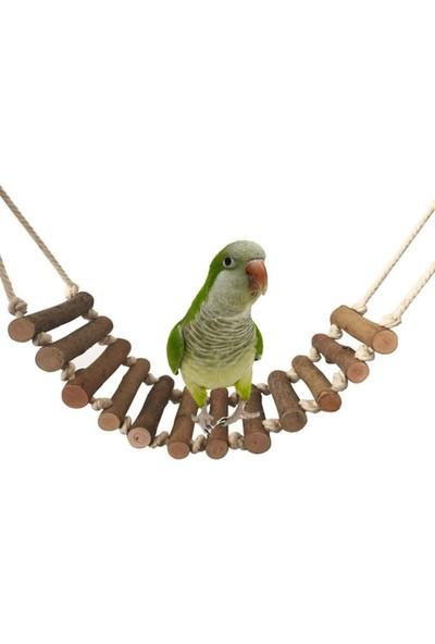 Alyones Ahşap Halatlı Kuş Merdiveni