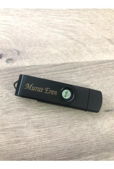 Baskı Adresi Isme Özel Siyah 16 GB USB Bellek