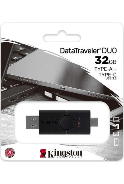 Kingston 32GB USB 3.2 USB Type A-C Datatraveler Duo